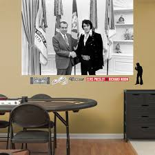 Elvis With President Nixon Mural Wall Decal