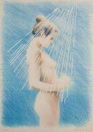 Untitled (Woman in Shower) - Adrian George - Belgrave St Ives