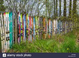 Ski Fence High Resolution Stock Photography And Images Alamy