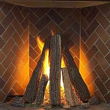 tipi series complete fireplace log set