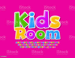 Vector Creative Emblem Kids Room With Colorful Alphabet Letters Numbers And Symbols Stock Illustration Download Image Now Istock