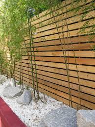 Astounding Bamboo Fence Decorating Ideas Yacineaziz Modern Fence Design Modern Landscaping Privacy Fence Landscaping