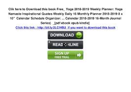 yoga weekly planner yoga namaste inspirational quotes