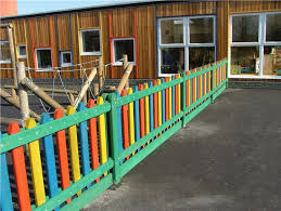 Childrens Playground Fencing Playground Daycare Playground Colorful Garden