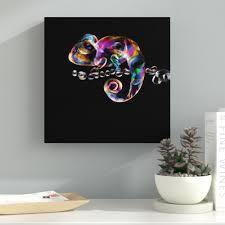 Latitude Run Chameleon Graphic Art On Wrapped Canvas Wayfair
