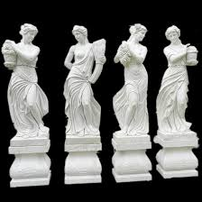 famous white marble stone statue