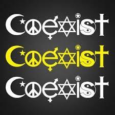 Coexist Vinyl Decal Coexist Vinyl Sticker For Car Window Size 2 X 8 Ebay