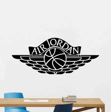 Air Jordan Wall Decal Basketball Sign Logo Vinyl Sticker Sport Etsy