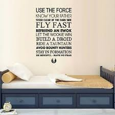 Use The Force Star Wars Wall Decal Tv Movies Music Ebay