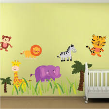 Nursery Zoo Wall Decal Kids Room Animals Wall Decor Apartment Stickers American Wall Designs