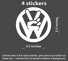 4x Vw Peace Decal Sticker Volkswagen Dub For Window Laptop Cars Truck Stickerboy Skins For Protecting Your Mobile Device