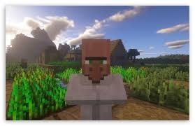 minecraft villager ultra hd desktop