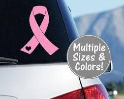 Pink Ribbon Decal Etsy