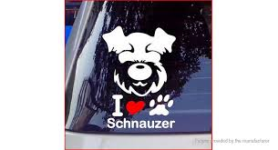 2 12 Free Shipping Schnauzer Dog Styled Car Decal Sticker Decoration Schnauzer Dog Styled Black At M Fasttech Com Fasttech Mobile