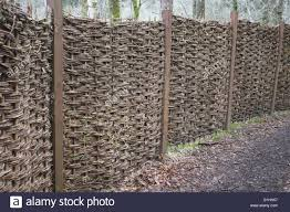Willow Weave Fence Panels In Situ Stock Photo Alamy