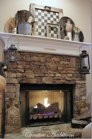 rustic winter mantel love the framed