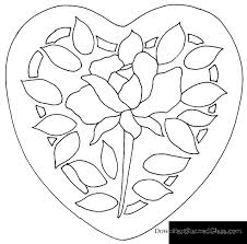 heart with rose stepping stone pattern