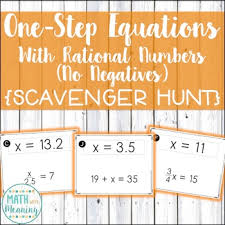 one step equations with rational