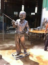 art figure sculpture brass metal garden