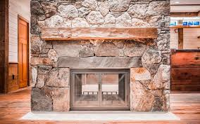 double sided wood buring fireplace