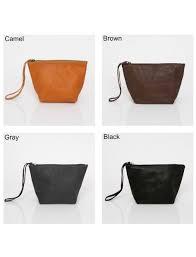 makeup bag small leather bag