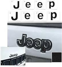 Amazon Com Reflective Concepts Jeep Front And Rear Emblem Overlay Decal Stickers 2014 2020 Jeep Grand Cherokee Color Carbon Fiber Automotive