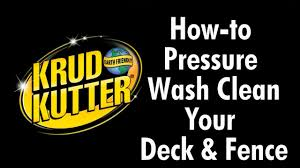 How To Pressure Wash A Deck And Fence With Krud Kutter Youtube