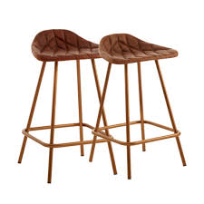 copper leather bar stool cl 40080 e2