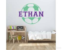 Customized Football Kids Name Wall Decal Name Wall Sticker Customized Football Wall Decal Nursery Vinyl Lettering
