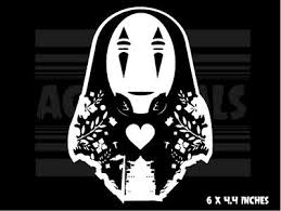 White Stick Emall Vinyl Decals Cars Laptops Windows No Face Spirited Away Car Decal Sticker