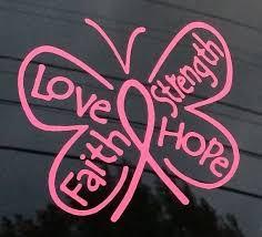Breast Cancer Ribbon Butterfly Window Decal Sticker A1 Custom Sticker Shop