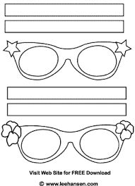 eye gles masks coloring page
