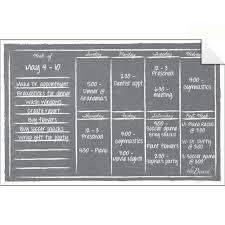 Weekly Calendar Wall Decal Marker Set Gray Chalkboard