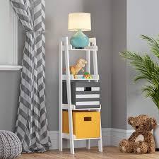 Kids Room Ladder Shelf White Non Tip Design Awesome Decors