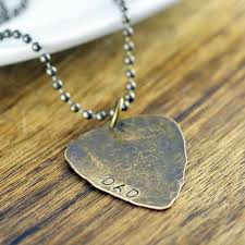 guitar pick necklace dad gift