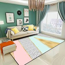 Pink Nordic Large Rugs Living Room Soft Thicken Carpet Kids Room Bedside Play Mat Modern Geometric Bedroom Area Rugs Carpets Buy At The Price Of 8 14 In Aliexpress Com Imall Com