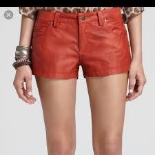 free people shorts burnt orange vegan