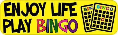 10in X 3in Enjoy Life Play Bingo Bumper Sticker Vinyl Window Decal Stickertalk
