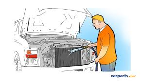 how to clean a radiator in the garage