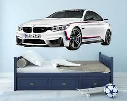 Bmw M4 Wall Decal Vinyl Racing Decor Room Luxury M Power Cars Ebay