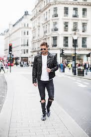 blogger jacket t shirt shoes