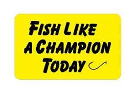 Fish Like A Champion Today Decal Sticker Notre Dame Fighting Irish Bass Tuna Ebay