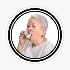 Asthma Grandma Sticker By Senploxfart Redbubble