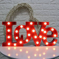 Light Signs Home Garden Store Living Room Table Kids Room White Wall Sujietrade Led Love Sign Light With 18 Led Bulbs 7 Tall Large Light Up Art Decorative Night Lamp Marquee