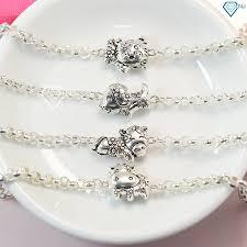 Lắc bạc hình con giáp, vòng tay bạc cho bé 12 con giáp - Trang Sức ...