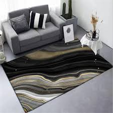 area rug for living room nordic black