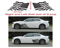 American Usa Flag Dodge Charger Hellcat Srt Hemi Decal Vinyl Side Door Graphics Oracal Dodge Charger Vinyl Graphics Charger Car
