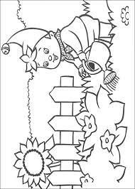 Kids N Fun Kleurplaat Noddy Noddy Geeft Planten Water