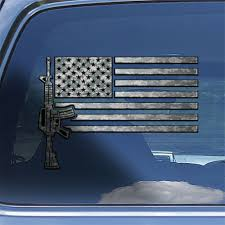 Usa Flag Ar 15 Rifle Decal Sticker Ar15 M4 Rifle Firearm Window Decal Sticker