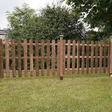4ft X 6ft Pressure Treated Round Top Picket Fence Panel Mercia Garden Products